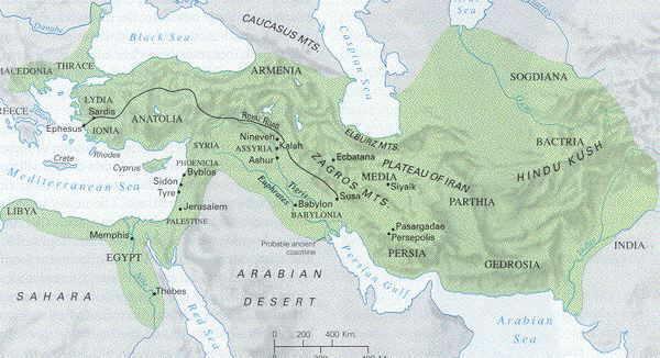 persians map
